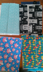 Christmas 2012 Giftings - Zipper Pouches - raw materials