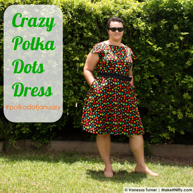 Crazy Polka Dots Dress - Title - Make It Nifty