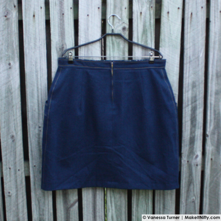 Denim Polly Skirt-Hanger Back-Make It Nifty