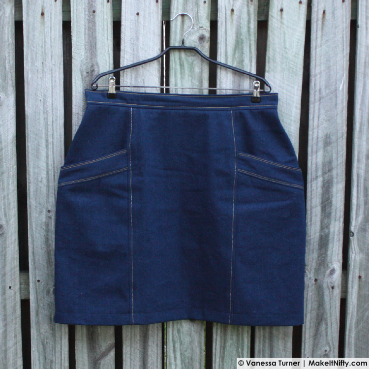 Denim Polly Skirt-Hanger Front-Make It Nifty