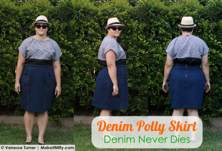 Denim Polly Skirt - Make It Nifty - TMS