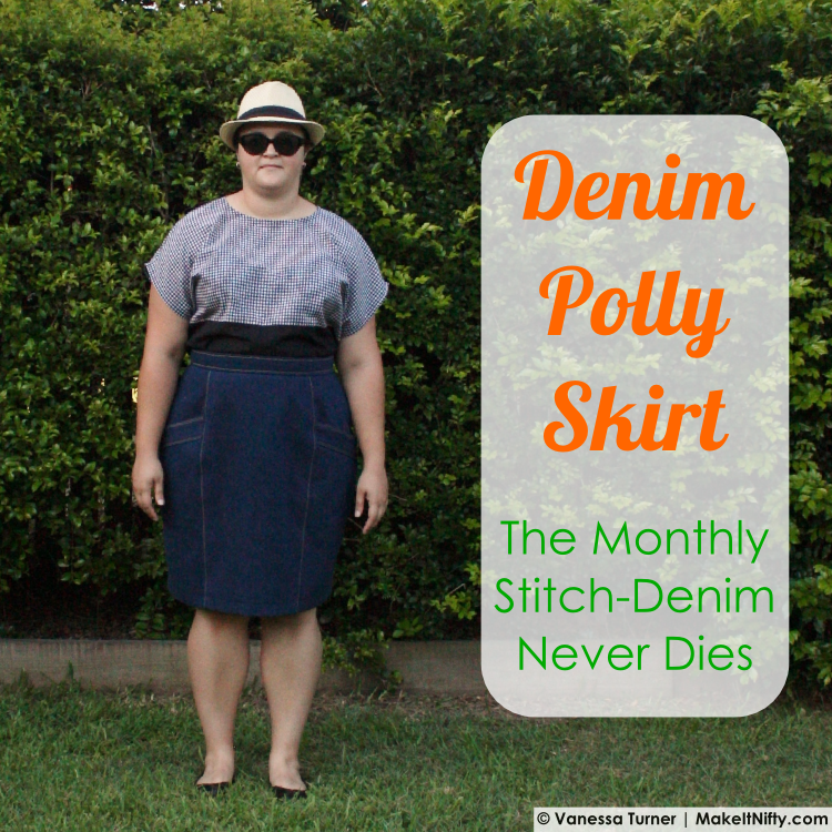 Denim Polly Skirt-Title Image-Make It Nifty
