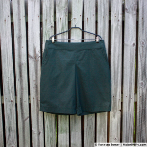 Green BurdaStyle Marlene Trousers-Make It Nifty-02 Hanger Front