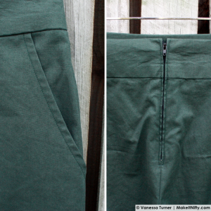Green BurdaStyle Marlene Trousers-Make It Nifty-04 Pocket & Zip