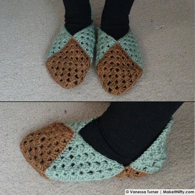 Make It Nifty-Elvish Slippers-WIP