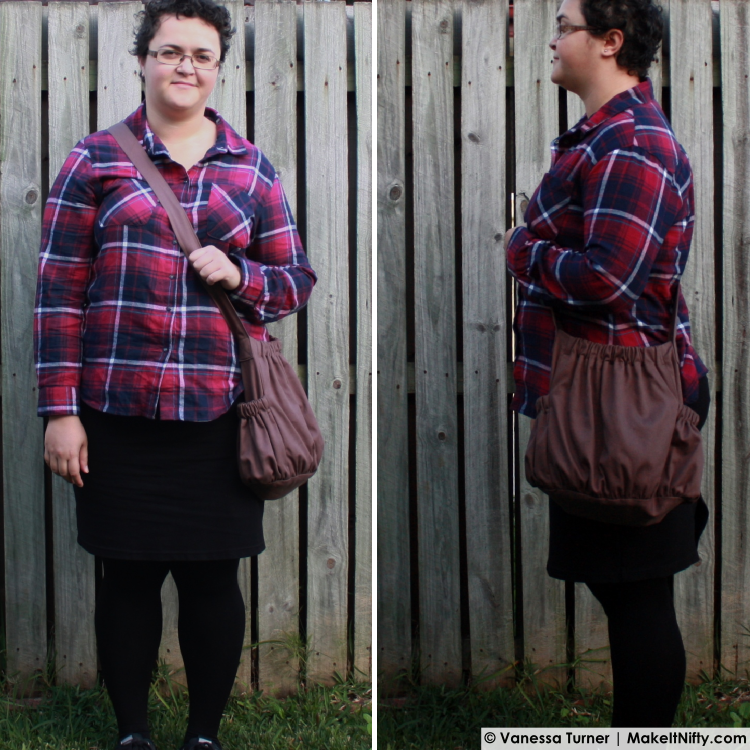 Make It Nifty- The BurdaStyle Sewing Handbook-Bag -worn